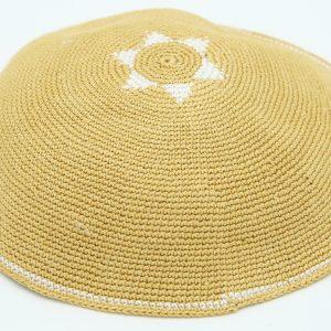 Hand Knitted Yarmulke, Knitted Kippah Hat 15 cm-5.9 Inc 016- Hand Knitted Kippah, Kippah. 100% Cotton, Bar Mitzvah Kippah, Wedding Kippah. Best Kippah