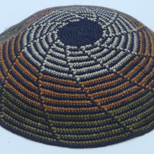 KippaCo Hand Knitted Yarmulke, Knitted Kippah Hat 15 cm 5.9 Inc 027-2a- hand knitted kippah, kippah. 100 cotton, Bar Mitzvah kippah, Wedding Kipp