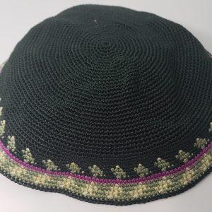 Hand-Knitted-Yarmulke-Knitted-Kippah-Hat-15-cm-5.9-Inc-057-1-hand-knitted-kippah-kippah.-100-cotton-Bar-Mitzvah-kippah-Wedding-Kippa