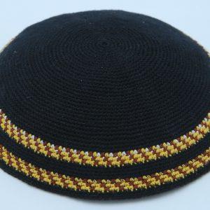 KippaCo Hand Knitted Yarmulke, Knitted Kippah Hat 15 cm5.9 Inc 062-1 hand knitted kippah, kippah. 100% cotton, Bar Mitzvah kippah, Wedding Kippah. Best Kippah