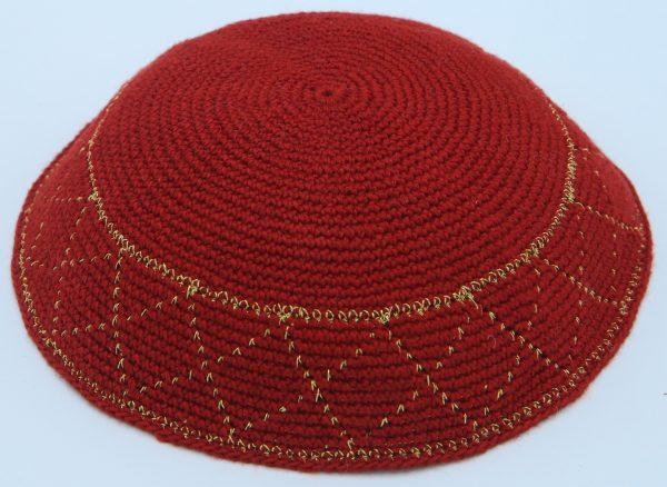 Hand Knitted Yarmulke Kippah Hat 15Cm5.9 Inc-kippaco-060a