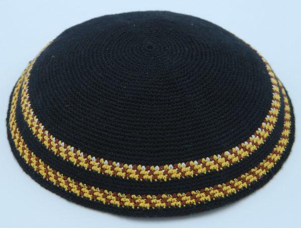 Hand Knitted Yarmulke Kippah Hat 15Cm5.9 Inc-kippaco-062a