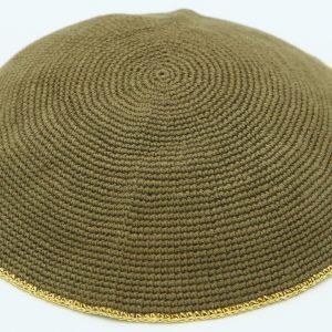 Hand Knitted Yarmulke, Knitted Kippah Hat 12.7 cm-5 Inc. KippaCo 102 hand knitted kippah, Fast shipping. US seller. Top quality kippah. 100% cotton, Bar Mitzvah kippah, Wedding Kippah. Best Kippah.