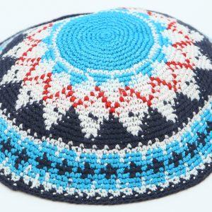 Hand Knitted Yarmulke, Knitted Kippah Hat 13 cm-5.10 Inc. KippaCo 002 hand knitted kippah, Fast shipping. US seller. Top quality kippah. 100% cotton, Bar Mitzvah kippah, Wedding Kippah. Best Kippah.