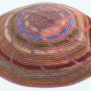 Hand Knitted Yarmulke, Knitted Kippah Hat 13 cm-5.10 Inc. KippaCo 003 hand knitted kippah, Fast shipping. US seller. Top quality kippah. 100% cotton, Bar Mitzvah kippah, Wedding Kippah. Best Kippah.