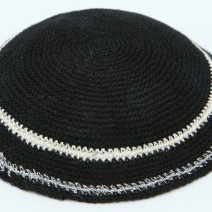 KippaCo Hand Knitted Yarmulke, Knitted Kippah Hat 12 cm-4.7 Inc 040- Hand Knitted Kippah, Kippah. 100% Cotton, Bar Mitzvah Kippah, Wedding Kippah. Best Kippah