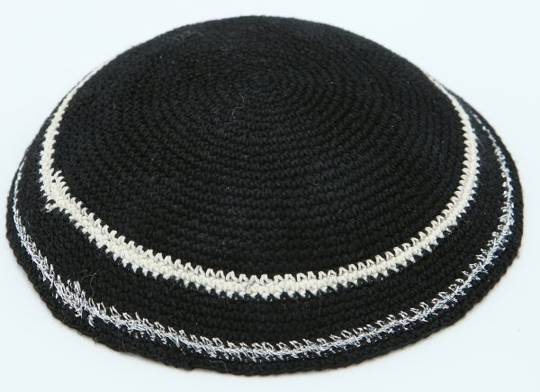 KippaCo Hand Knitted Yarmulke, Knitted Kippah Hat 12 cm-4.7 Inc 040- Hand Knitted Kippah, Kippah. 100% Cotton, Bar Mitzvah Kippah, Wedding Kippah. Best Kippah