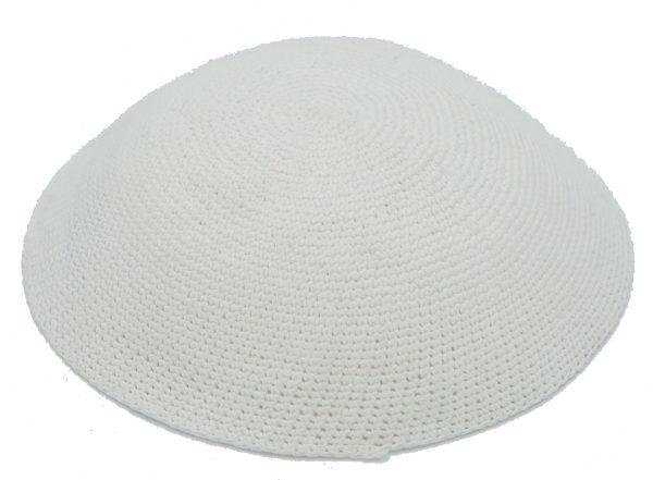 KippaCo Hand Knitted Yarmulke, Knitted Kippah Hat 13.9 Cm-5 Inc 103- Hand Knitted Kippah, Kippah. 100% Cotton, Bar Mitzvah Kippah, Wedding