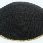 KippaCo Hand Knitted Yarmulke, Knitted Kippah Hat 14 cm-5.4 Inc 132 Hand Knitted Kippah, Kippah. 100% Cotton, Bar Mitzvah Kippah, Wedding Kippah. Best Kippah.