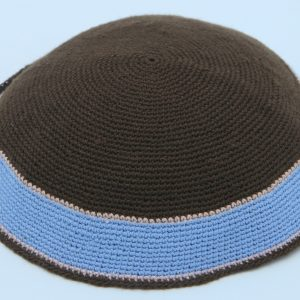 KippaCo Hand Knitted Yarmulke, Knitted Kippah Hat 15 cm-5.9 Inc 006 Hand Knitted Kippah, Kippah. 100% Cotton, Bar Mitzvah Kippah, Wedding Kippah. Best Kippah