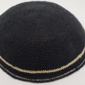 KippaCo Hand Knitted Yarmulke, Knitted Kippah Hat 15 cm 5.9 Inc 008-hand knitted kippah, kippah. 100 cotton, Bar Mitzvah kippah, Wedding Kippa