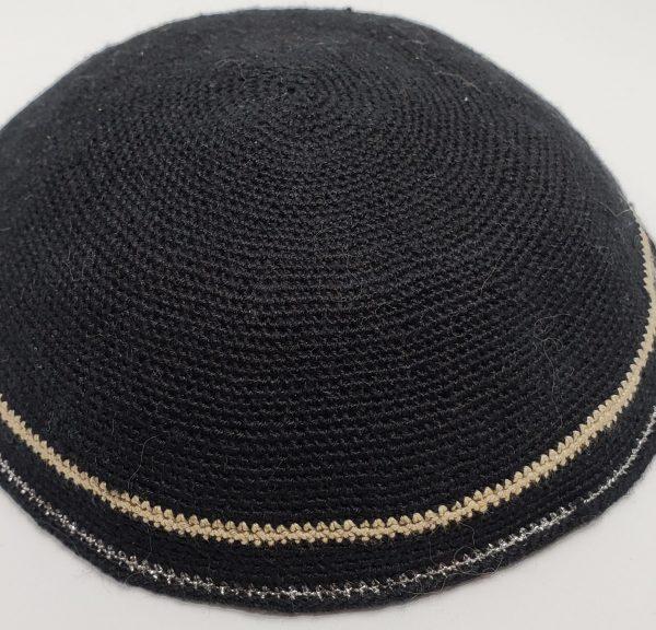 KippaCo Hand Knitted Yarmulke, Knitted Kippah Hat 15 cm 5.9 Inc 008-hand knitted kippah, kippah. 100 cotton, Bar Mitzvah kippah, Wedding Kippa