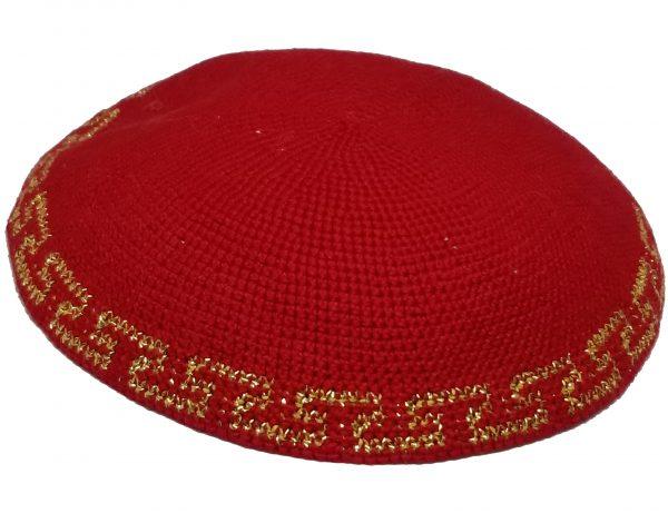 KippaCo Hand Knitted Yarmulke, Knitted Kippah Hat 15 cm 5.9 Inc 012s-1-hand knitted kippah, kippah. 100 cotton, Bar Mitzvah kippah, Wedding Kippa