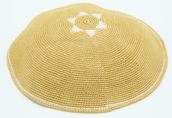 KippaCo Hand Knitted Yarmulke, Knitted Kippah Hat 15 cm-5.9 Inc 016- Hand Knitted Kippah, Kippah. 100% Cotton, Bar Mitzvah Kippah, Wedding Kippah. Best Kippah.