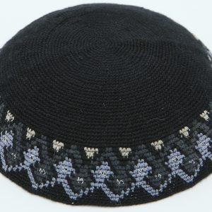 KippaCo Hand Knitted Yarmulke, Knitted Kippah Hat 15 cm-5.9 Inc 019 - Hand Knitted Kippah, Kippah. 100% Cotton, Bar Mitzvah Kippah, Wedding Kippah. Best Kippah