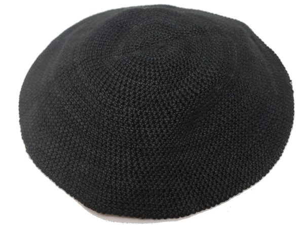 KippaCo Hand Knitted Yarmulke, Knitted Kippah Hat 15 cm 5.9 Inc 020-hand knitted kippah, kippah. 100 cotton, Bar Mitzvah kippah, Wedding Kippa