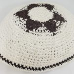 KippaCo Hand Knitted Yarmulke, Knitted Kippah Hat 15 cm 5.9 Inc 022-1-hand knitted kippah, kippah. 100 cotton, Bar Mitzvah kippah, Wedding Kippa