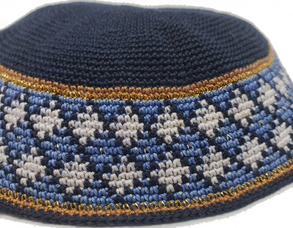 KippaCo Hand Knitted Yarmulke, Knitted Kippah Hat 15 cm 5.9 Inc 025-1-hand knitted kippah, kippah. 100 cotton, Bar Mitzvah kippah, Wedding Kippa