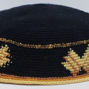 KippaCo Hand Knitted Yarmulke, Knitted Kippah Hat 15 cm 5.9 Inc 028-4 hand knitted kippah, kippah. 100 cotton, Bar Mitzvah kippah, Wedding Kippa