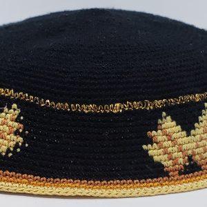 KippaCo Hand Knitted Yarmulke, Knitted Kippah Hat 15 cm 5.9 Inc 028-4 hand knitted kippah, kippah. 100 cotton, Bar Mitzvah kippah, Wedding Kippa