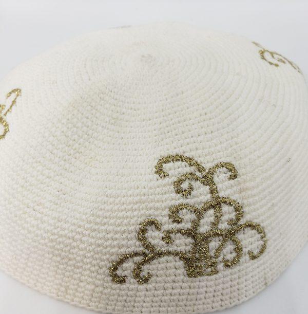 KippaCo Hand Knitted Yarmulke, Knitted Kippah Hat 15 cm 5.9 Inc 029-1a-hand knitted kippah, kippah. 100 cotton, Bar Mitzvah kippah, Wedding Kippa