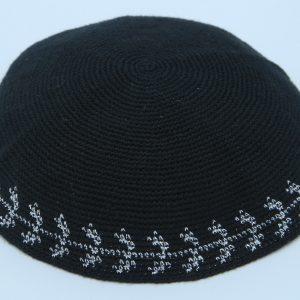 KippaCo Hand Knitted Yarmulke, Knitted Kippah Hat 15 cm 5.9 Inc 030- hand knitted kippah, kippah. 100 cotton, Bar Mitzvah kippah, Wedding Kippah
