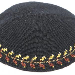 KippaCo Hand Knitted Yarmulke, Knitted Kippah Hat 15 cm-5.9 Inc 036- Hand Knitted Kippah, Kippah. 100% Cotton, Bar Mitzvah Kippah, Wedding Kippah. Best Kippah