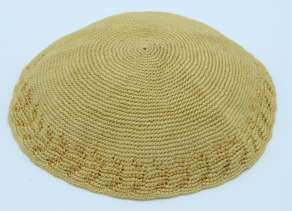 KippaCo Hand Knitted Yarmulke, Knitted Kippah Hat 15 cm-5.9 Inc 045 - Hand Knitted Kippah, Kippah. 100% Cotton, Bar Mitzvah Kippah, Wedding Kippah. Best Kippah