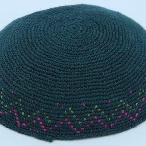 KippaCo Hand Knitted Yarmulke, Knitted Kippah Hat 15 cm-5.9 Inc 049- Hand Knitted Kippah, Kippah. 100% Cotton, Bar Mitzvah Kippah, Wedding Kippah. Best Kippah.