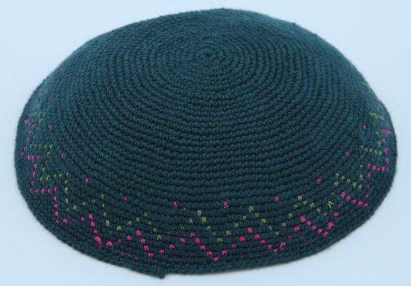 KippaCo Hand Knitted Yarmulke, Knitted Kippah Hat 15 cm-5.9 Inc 049- Hand Knitted Kippah, Kippah. 100% Cotton, Bar Mitzvah Kippah, Wedding Kippah. Best Kippah.