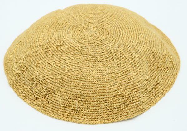 KippaCo Hand Knitted Yarmulke, Knitted Kippah Hat 15 cm-5.9 Inc 060 Hand Knitted Kippah, Kippah. 100% Cotton, Bar Mitzvah Kippah, Wedding Kippah. Best Kippah