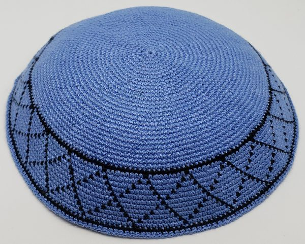KippaCo Hand Knitted Yarmulke, Knitted Kippah Hat 15 cm 5.9 Inc 070-hand knitted kippah, kippah. 100 cotton, Bar Mitzvah kippah, Wedding Kippa