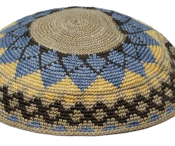 KippaCo Hand Knitted Yarmulke, Knitted Kippah Hat 15 cm 5.9 Inc 116-2-hand knitted kippah, kippah. 100 cotton, Bar Mitzvah kippah, Wedding Kippa