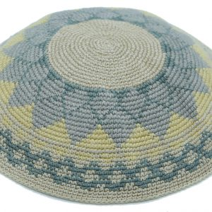 KippaCo Hand Knitted Yarmulke, Knitted Kippah Hat 15 cm 5.9 Inc 116a-hand knitted kippah, kippah. 100 cotton, Bar Mitzvah kippah, Wedding Kippah.