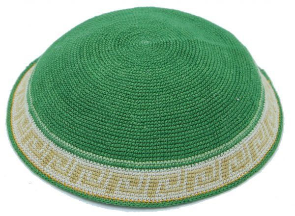 KippaCo Hand Knitted Yarmulke, Knitted Kippah Hat 15 cm 5.9 Inc 127-1 hand knitted kippah, kippah. 100 cotton, Bar Mitzvah kippah, Wedding Kippa