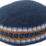 KippaCo Hand Knitted Yarmulke, Knitted Kippah Hat 15 cm 5.9 Inc 129-a-hand knitted kippah, kippah. 100 cotton, Bar Mitzvah kippah, Wedding Kippa