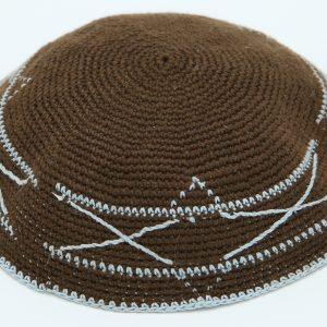 KippaCo Hand Knitted Yarmulke, Knitted Kippah Hat 15 cm-5.9 Inc 130- Hand Knitted Kippah, Kippah. 100% Cotton, Bar Mitzvah Kippah, Wedding Kippah. Best Kippah.