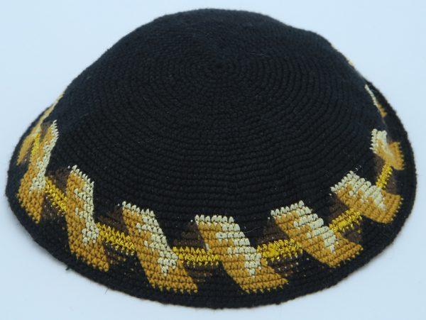 KippaCo Hand Knitted Yarmulke, Knitted Kippah Hat 15 cm 5.9 Inc 131-2a hand knitted kippah, kippah. 100 cotton, Bar Mitzvah kippah, Wedding Kippa