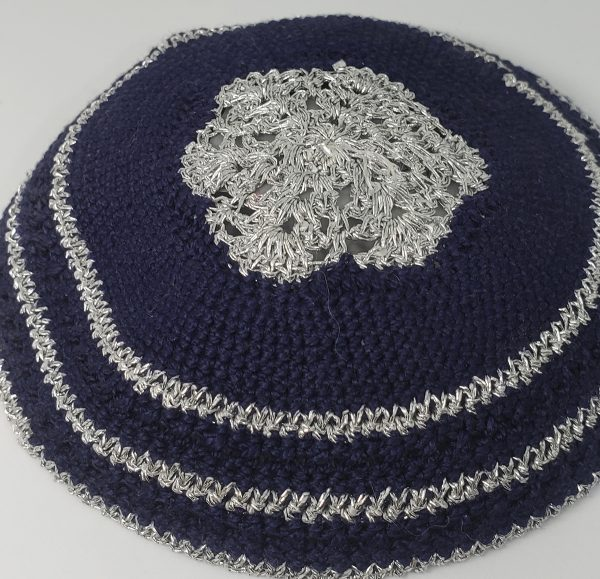 KippaCo Hand Knitted Yarmulke, Knitted Kippah Hat 15 cm 5.9 Inc 135-hand knitted kippah, kippah. 100 cotton, Bar Mitzvah kippah, Wedding Kippa