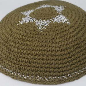 KippaCo Hand Knitted Yarmulke, Knitted Kippah Hat 15 cm 5.9 Inc 136-hand knitted kippah, kippah. 100 cotton, Bar Mitzvah kippah, Wedding Kippa