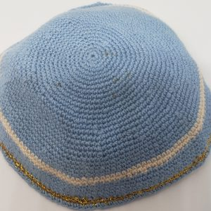 KippaCo Hand Knitted Yarmulke, Knitted Kippah Hat 15 cm 5.9 Inc 138-2-hand knitted kippah, kippah. 100 cotton, Bar Mitzvah kippah, Wedding Kippa