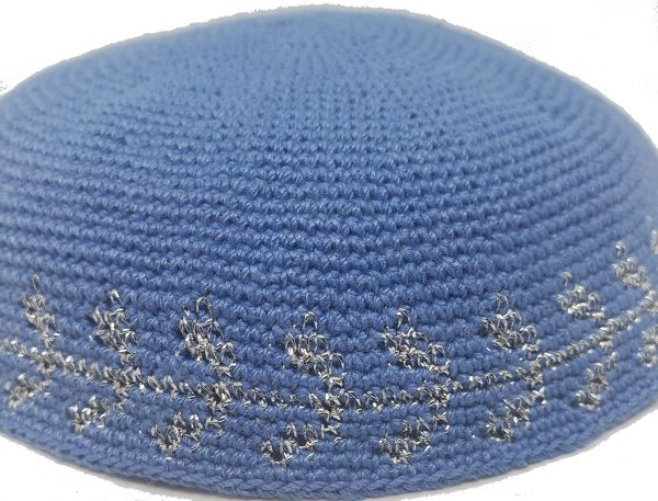KippaCo Hand Knitted Yarmulke, Knitted Kippah Hat 15 cm 5.9 Inc 139-1-hand knitted kippah, kippah. 100 cotton, Bar Mitzvah kippah, Wedding Kippa