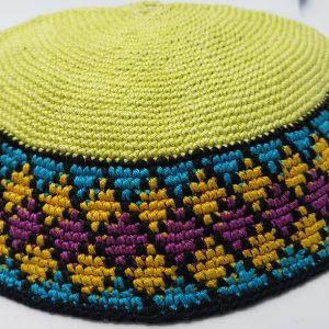 KippaCo Hand Knitted Yarmulke, Knitted Kippah Hat 15 cm 5.9 Inc 142 hand knitted kippah, kippah. 100 cotton, Bar Mitzvah kippah, Wedding Kippa
