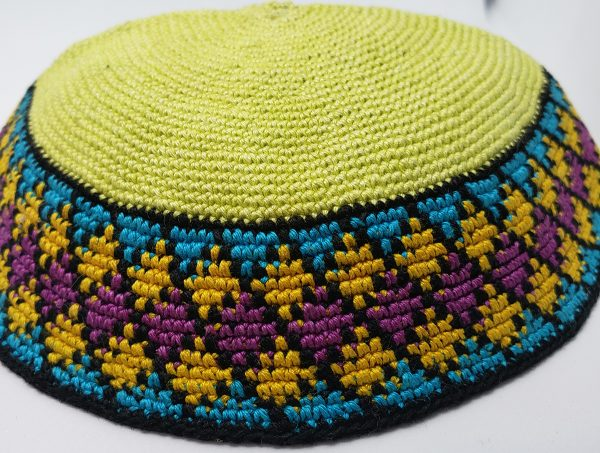 KippaCo Hand Knitted Yarmulke, Knitted Kippah Hat 15 cm 5.9 Inc 142 hand knitted kippah, kippah. 100 cotton, Bar Mitzvah kippah, Wedding Kippa
