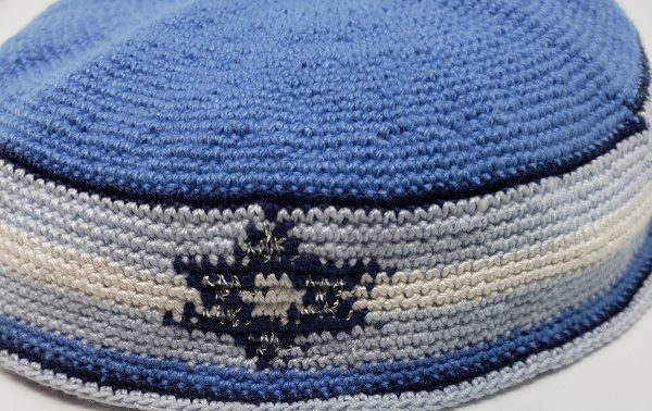 KippaCo Hand Knitted Yarmulke, Knitted Kippah Hat 15 cm 5.9 Inc 143-1-hand knitted kippah, kippah. 100 cotton, Bar Mitzvah kippah, Wedding Kippa