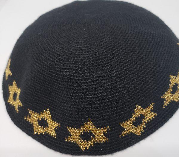 KippaCo Hand Knitted Yarmulke, Knitted Kippah Hat 15 cm 5.9 Inc 145-2-hand knitted kippah, kippah. 100 cotton, Bar Mitzvah kippah, Wedding Kippa