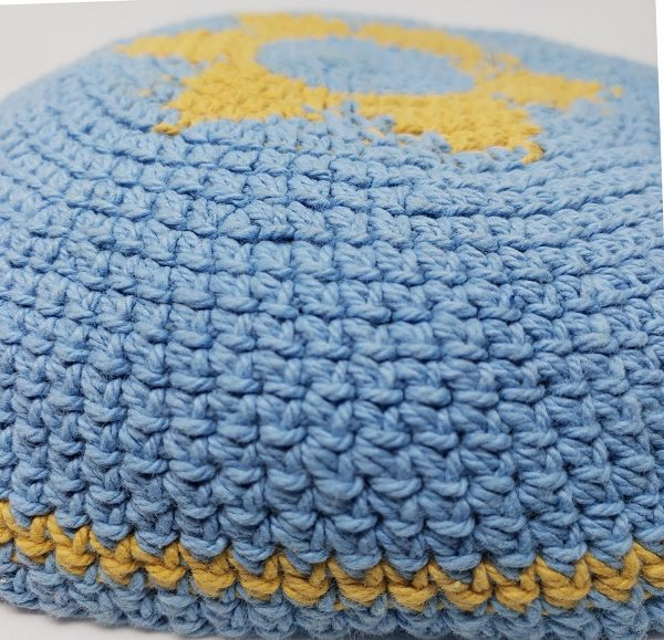 KippaCo Hand Knitted Yarmulke, Knitted Kippah Hat 15 cm 5.9 Inc 149-hand knitted kippah, kippah. 100 cotton, Bar Mitzvah kippah, Wedding Kippa