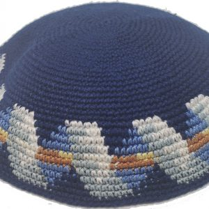 KippaCo Hand Knitted Yarmulke, Knitted Kippah Hat 15 cm 5.9 Inc 14o-hand knitted kippah, kippah. 100 cotton, Bar Mitzvah kippah, Wedding Kippa