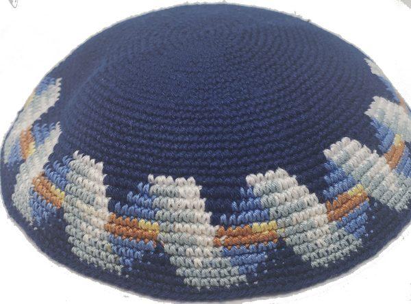 KippaCo Hand Knitted Yarmulke, Knitted Kippah Hat 15 cm 5.9 Inc 14o-hand knitted kippah, kippah. 100 cotton, Bar Mitzvah kippah, Wedding Kippa