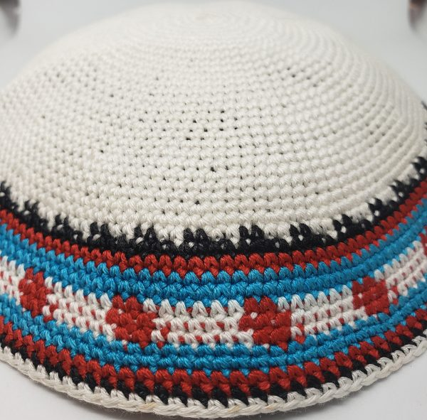 KippaCo Hand Knitted Yarmulke, Knitted Kippah Hat 15 cm 5.9 Inc 152-2-hand knitted kippah, kippah. 100 cotton, Bar Mitzvah kippah, Wedding Kippa